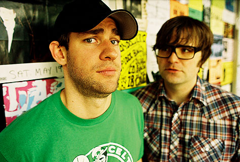 Ben Gibbard Looking Very Much Like Dwight Schrute With John